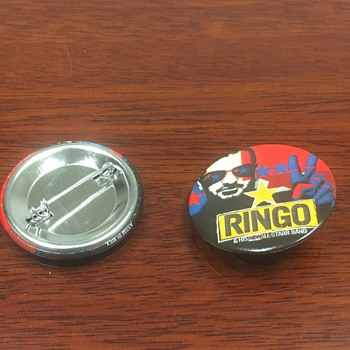 Ringo's personally owned tour pin-2001