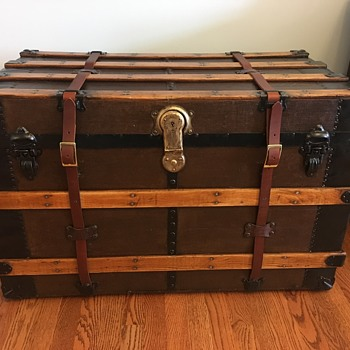 Steamer  Trunk, Corbin Bros. lock - Furniture