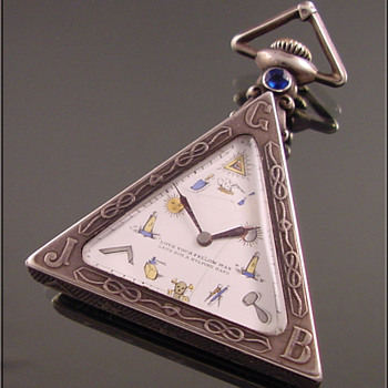 Masonic Silver Triangular Pocket Watch c.1930 - Pocket Watches