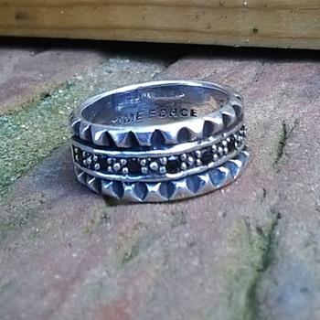 Sterling Time Force Ring Flea Market Find 4 Euro ($4.36) - Fine Jewelry
