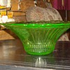 Large Green Depression Glass Bowl Hocking Glass Mayfair Pattern