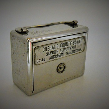 Promotional Advertising Bank, Chehalis County Bank, Aberdeen, Washington, Circa 1910 - Coin Operated