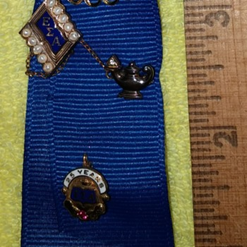 """Ribbon with Pins Embroidered """"ESA"""" - Medals Pins and Badges"""