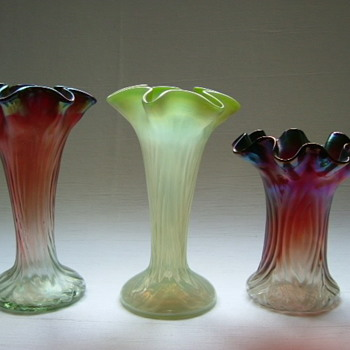 Kralik Art Nouveau Vases - Art Glass