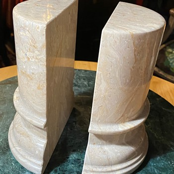 Large and HEAVY Stone Bookends - Books