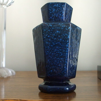 "For ""sklo42"" Something New to Share- Welz Hexagon Vase - Art Glass"