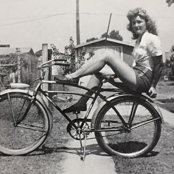 Vintage Bicycle Pin Up Girl Help ID? - Sporting Goods