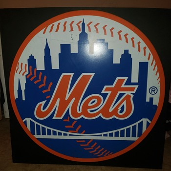 Shea stadium Mets Sign from playera lounge - Baseball