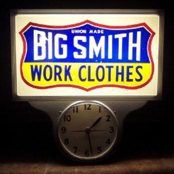 Big Smith Work Clothes Clock