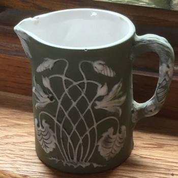 I love this jasperware (I think) I think- jug incised 1773 on base