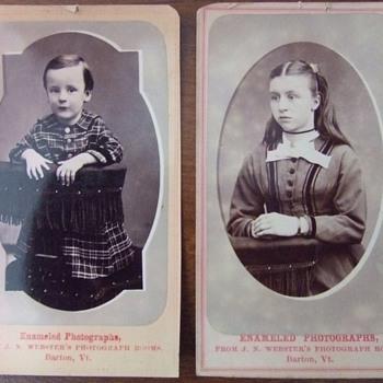 Enameled CDVs from 1870s