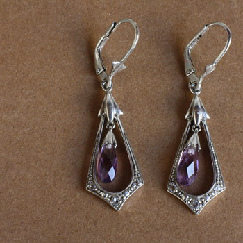 Silver and amethyst earrings - Fine Jewelry