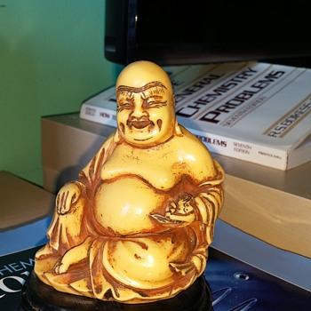 Carved Bone Buddha - Asian