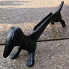 Antique Cast Iron Dachshund Arched Back Boot Scraper