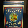 VINTAGE CADBURY'S COCOA METAL SIGN AND TIN
