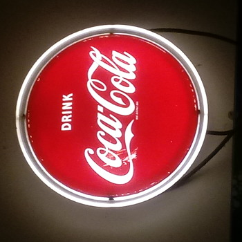 old coca cola fluorescent light sign - Coca-Cola