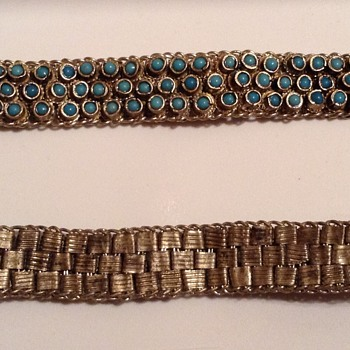 Vintage Bracelets with interesting closure - Costume Jewelry