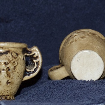 $ Lion Carved Bone Cups