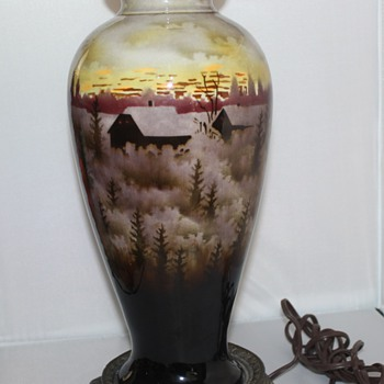Hand Painted Czech Lamp