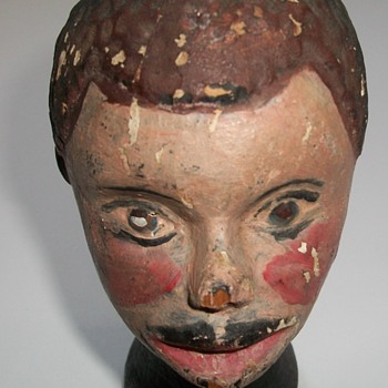 Antique Folk Art Sculpture of an African-American Boy - Folk Art