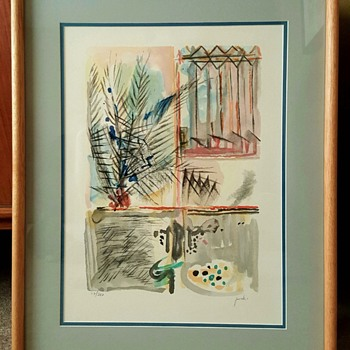 """Palm Tree"" Lithograph Print by Yehezkel Streichman - Mid-Century Modern"