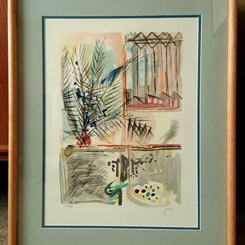 """""""Palm Tree"""" Lithograph Print by Yehezkel Streichman"""