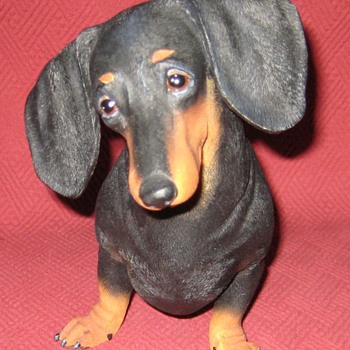 Black and Tan Miniature Dachshund Statue - Animals