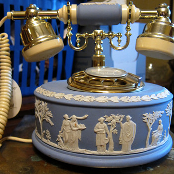 Wedgwood Telephone (Blue Jasperware) - China and Dinnerware