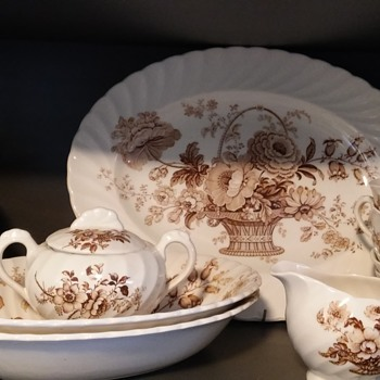 Grandma's staffordshire china dinner set