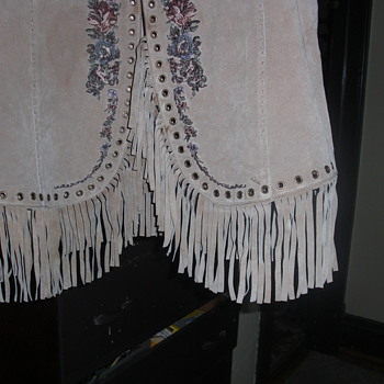 1970's suede leather vest