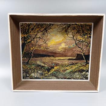 Impressionist oil on board - cardigan - monogram GB  - Fine Art