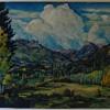 WPA/Social Realist Esquipula Romero de Romero (NM, 1889 – 1975) Oil on Canvas Sandia Mountains Landscape Painting