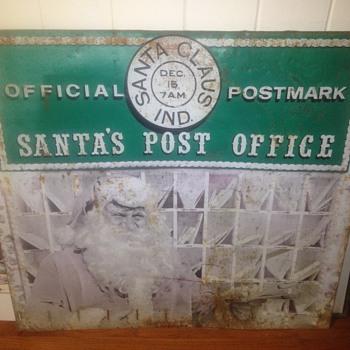 Vintage Santa postmark sign
