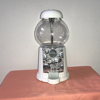 Vintage M&M White Candy Dispenser - Coin Operated