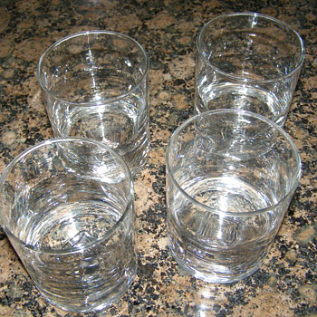 Crystal Double Old Fashion Glasses - Glassware