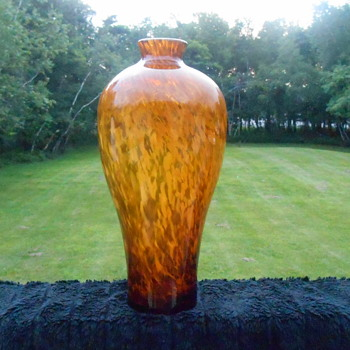 Beautiful Large Vase - Art Glass