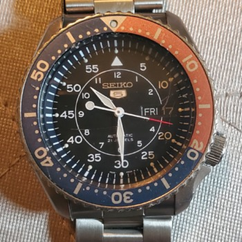Nice Seiko Mod pilot & diver watch - Wristwatches