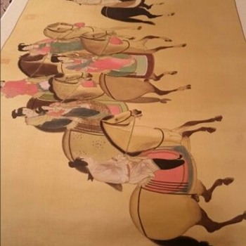 """Zhang Xuan, """"Lady of Guo Spring Outing""""on Silk"""