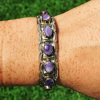 Vintage Native American Sterling Silver Bracelet Cuff  - Fine Jewelry