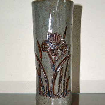Cylinder Shaped Vase - Pottery