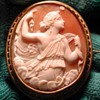 Cameo of Psyche with her butterfly
