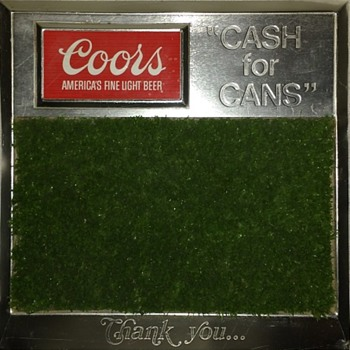 "Coors ""Cash for Cans"" Sign - Golf Green - Breweriana"