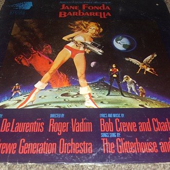 Obscure..Jane Fonda And The Film, 'Barbarella'..On 33 1/3 RPM Vinyl - Records