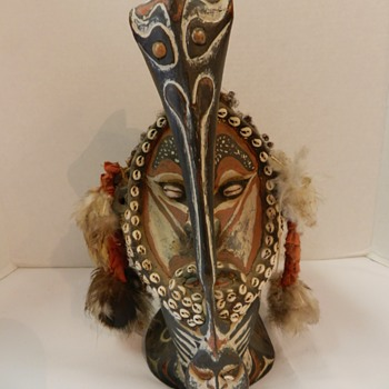 IVORY COAST SENUFO CARVED BIRD STATUE,SHELLS,FEATHERS,HAIR - Fine Art