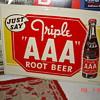Triple AAA Root Beer Tin Sign