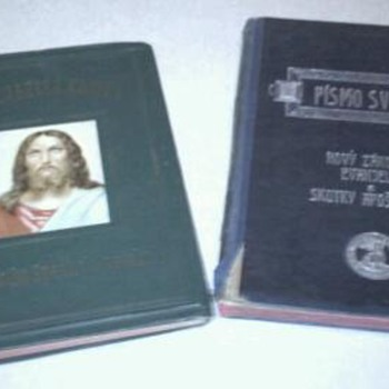 Two, year 1906 & year 1916 Slovak Bibles - Books
