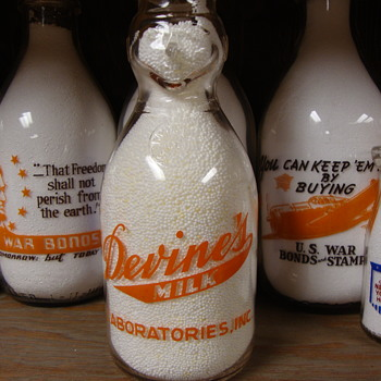DEVINE'S MILK LABORATORIES INC. COP THE CREAM MILK BOTTLE.....TAUNTON / ATTLEBORO MASSACHUSETTS - Bottles