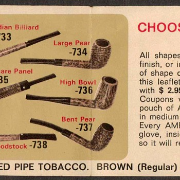 1970 - Amphora Tobacco Briar Pipe Coupon - Tobacciana