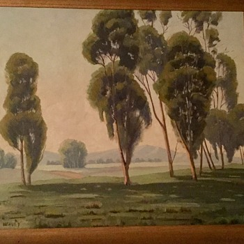Eucalyptus school oil painting  - Fine Art