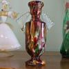 "FRANZ WELZ (Royal Artglass) ""Winged"" SPATTER VASE- Czech"